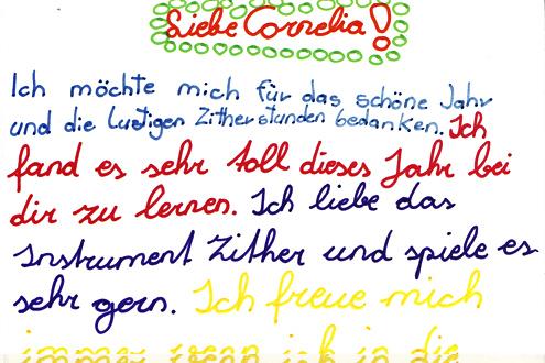 Cornelia Mayer Zitherspielerin in Wien - Feedback