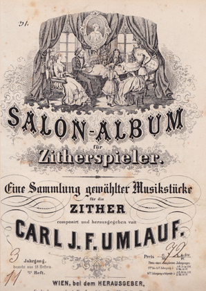 Cornelia Mayer Zitherspielerin in Wien - Carl J.F. Umlauf Salon Album für Zitherspieler