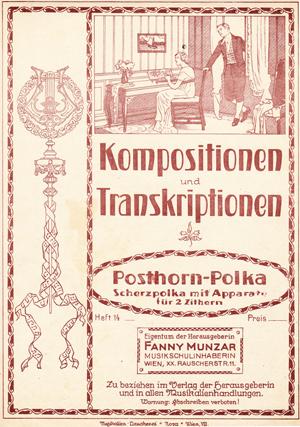 Cornelia Mayer Zitherspielerin in Wien -Fanny Munzar Kompostionen und Transkriptionen