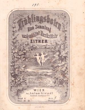 Cornelia Mayer Zitherspielerin in Wien - Jakob Schablass bei Anton Kiendl